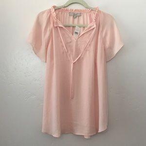 NWT Loft pink blouse